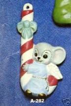 Alberta Ornaments 0282 Angel mouse on candy cane