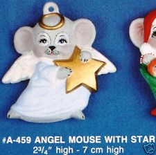 Alberta Ornaments 0459 angel mouse with star