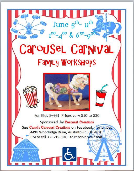 Carousel Carnival spring workshops