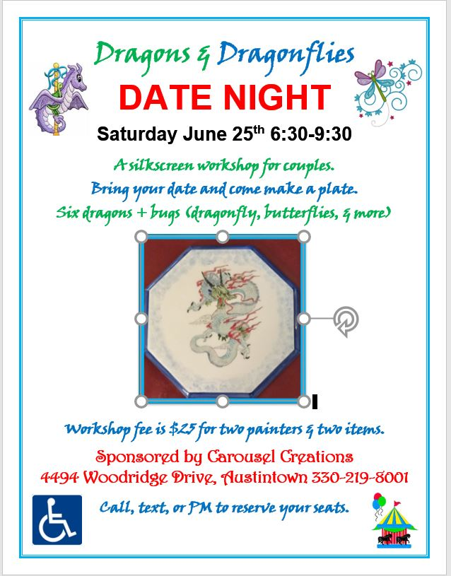 DATE NIGHT Dragon & Dragonflies 6-25-16