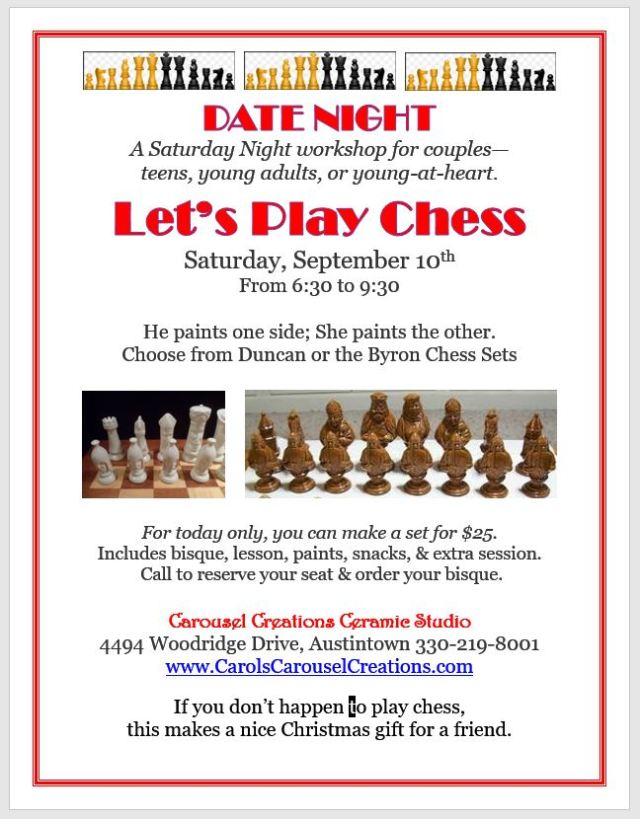 Date Night Let's Play Chess WS for 9-10-16