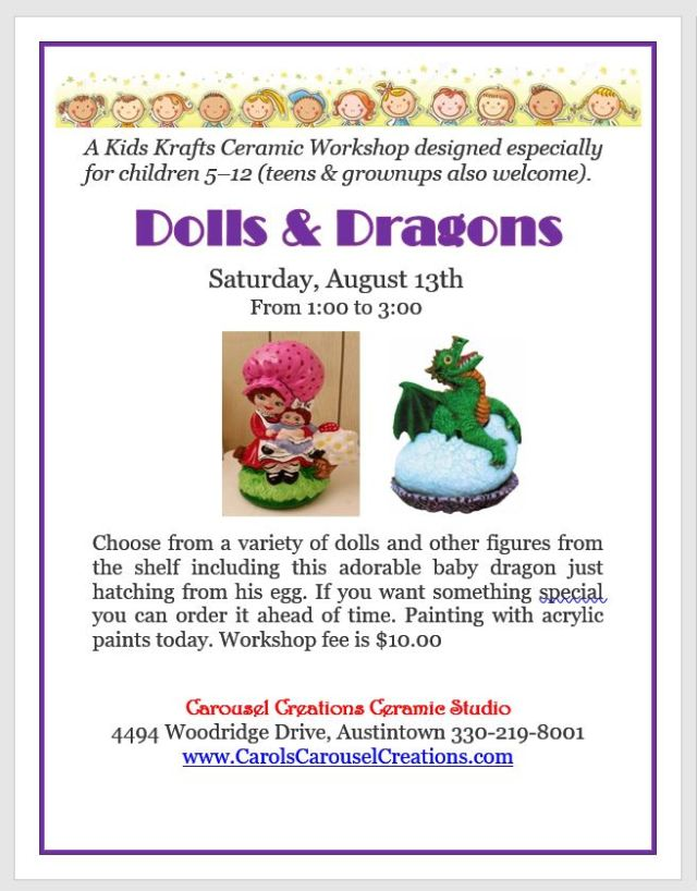 KK Dolls and Dragons WS Poster for 8-13-16