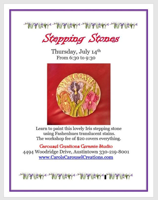Stepping Stones WS poster for 7-14-16