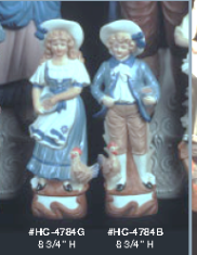 Alberta (Heinz) 4784B & 4784G colonial boy and girl