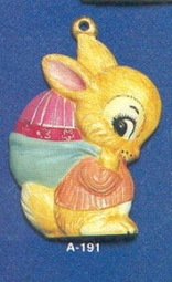 Alberta Ornaments 0191 boy bunny-egg in sack