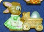 Alberta Ornaments 0196 bunny with cart