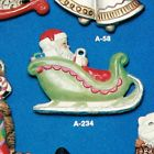 Alberta Ornaments 0234 Santa in Sleigh