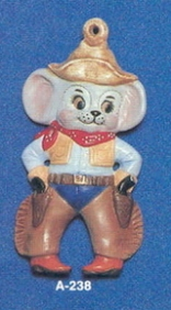 Alberta Ornaments 0238 cowboy mouse