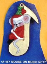 Alberta Ornaments 0457 mouse on music note