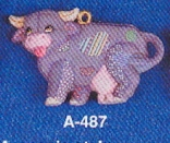 Alberta Ornaments 0487 soft sculpture cow