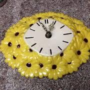 Atlantic 0678 daisy clock yellow