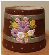 Atlantic 0808 barrel with flowers (planter)