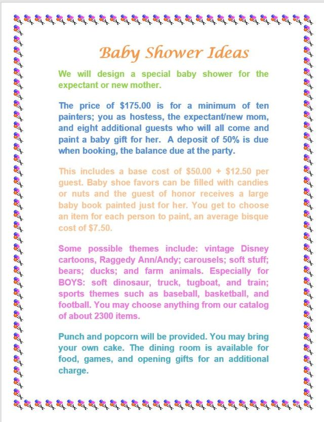 baby shower ideas pg 1