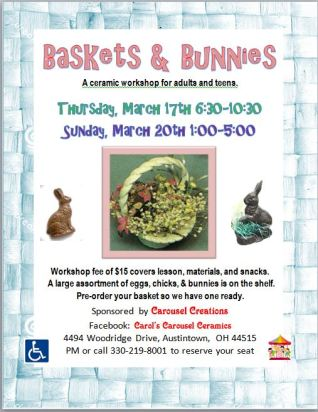 baskets & bunnies 3-17 & 3-20-16