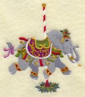 Carousel Christmas Elephant