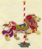 Carousel Christmas Lion