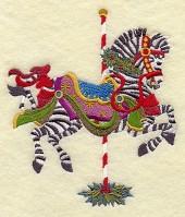 Carousel Christmas Zebra