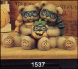 Clay Magic 1537 masked cuddle bears