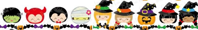 clipart trick-or-treat border