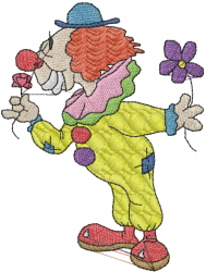 CLOWN SMELLING FLOWER