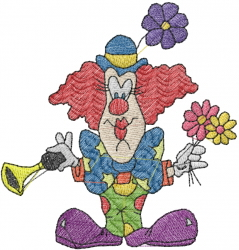 CLOWN WITH HORN