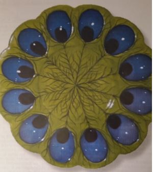 CLUB DAVID 1388 Peacock Egg Plate