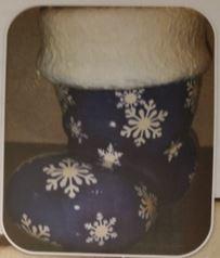 CLUB DAVID 1410 Snowflake Christmas Boot in Blue