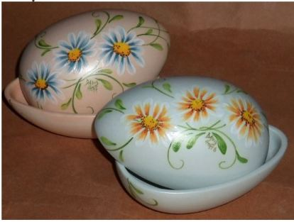CLUB DAVID 1413 Majolica Daisy Egg Box