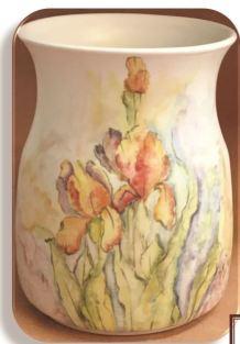 DAVID HOFF 1417 Watercolor Majolica Iris