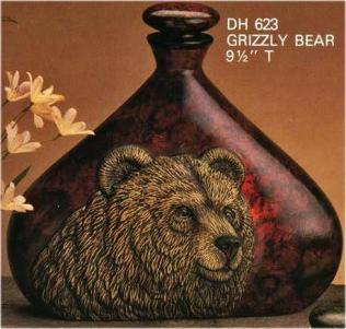 Doc Holliday 0623 Indian Decanter Bear