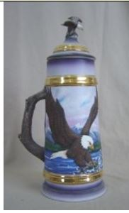Doc Holliday 500 A & B large stein with American eagle