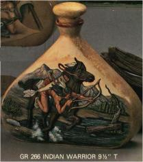 Doc Holliday (Goldrush) 0266 decanter Indian Warrior