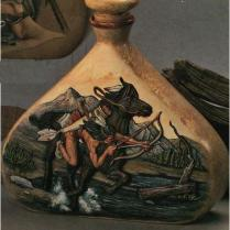 Doc Holliday (Goldrush) 0266 decanter Indian Warrior