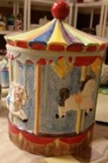 Duncan 0007B  & 0008C carousel cookie jar (CC)