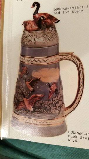 Duncan 0414C wild geese stein with lid