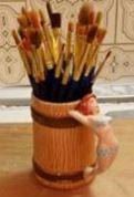 Duncan 1001 wood mug with lady handle
