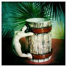 Duncan 1001 woodgrain mug with nude handle