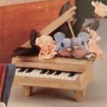 Gare 1392 & 1393 Baby Grand Piano with birds