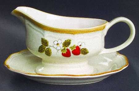 gravy boat with strawberries