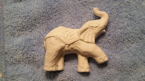 Heartland elephantcarousel ornament bisque