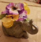 Jodi (Gare) 1900 Elephant Planter (amber)