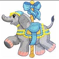 KIDS CAROUSEL ELEPHANT PIC