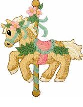KIDS CAROUSEL HORSE PIC