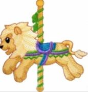 KIDS CAROUSEL LION PIC