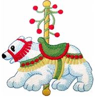 KIDS CAROUSEL POLAR BEAR PIC