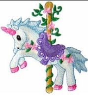 KIDS CAROUSEL UNICORN PIC