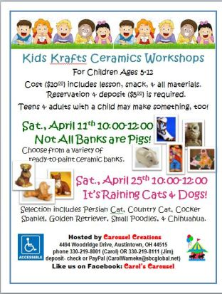 Kids krafts poster for APR
