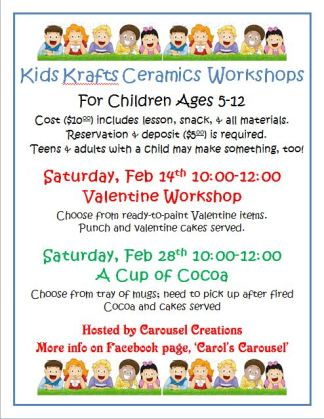 kids krafts poster for feb