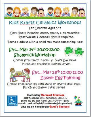 Kids Krafts poster for MAR