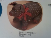 Kimple 0881 stuffed (soft) pig
